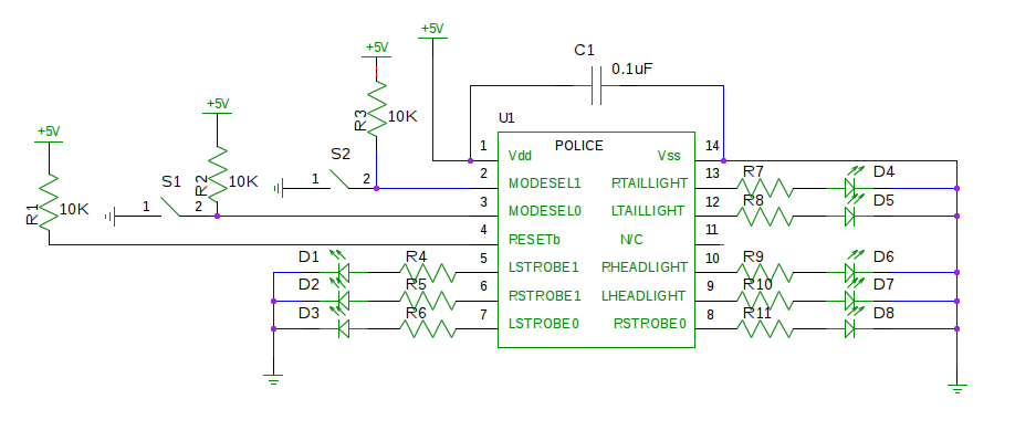 Owlcircuits led policeemergency lights circuit click for a larger circuit diagram image led police lights example circuit asfbconference2016 Images